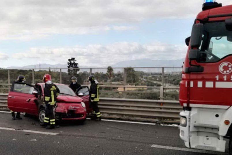 Il luogo dell'incidente (foto vigili del fuoco di Cagliari)