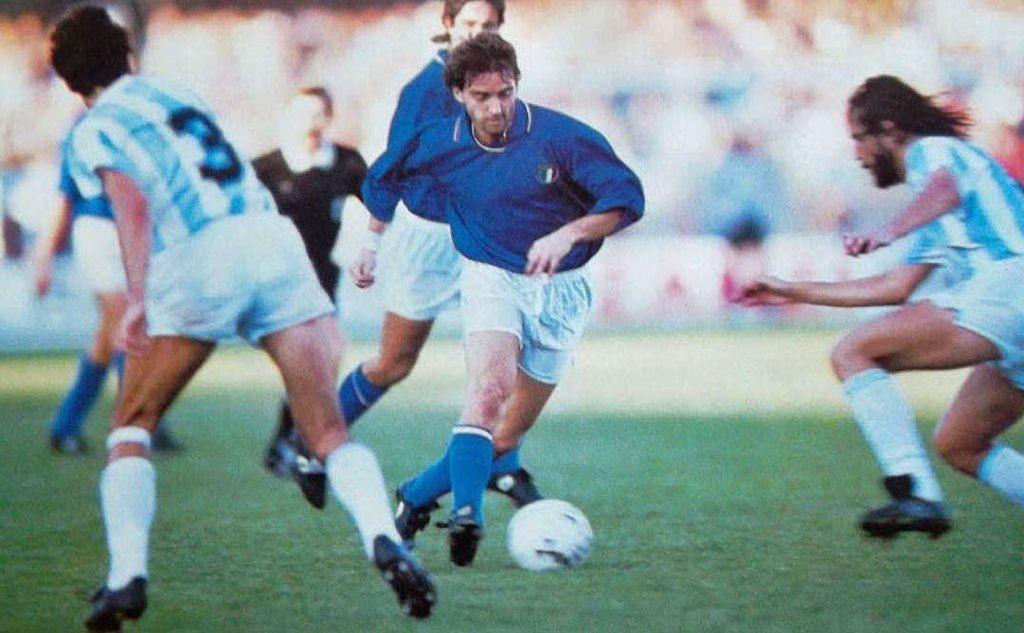 Italia-Argentina, Mancini in dribbling