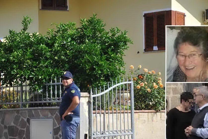 La casa della vittima, nei riquadri Brigitte e Perria (Archivio L'Unione Sarda)