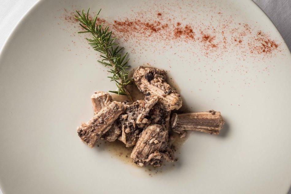 Un piatto di burrida (foto di Marco Angius)