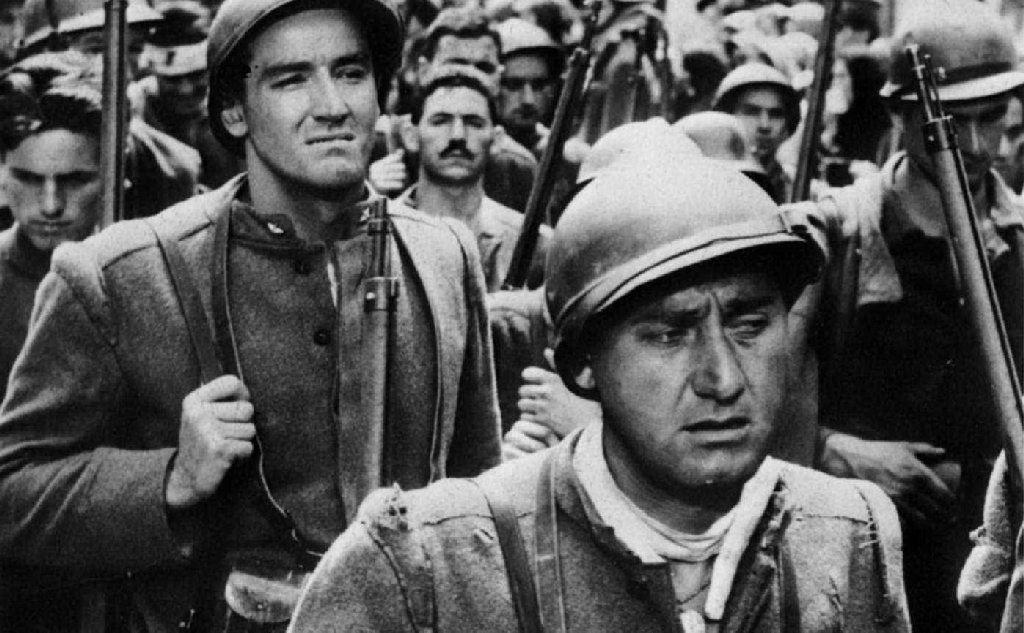 """Sordi e Vittorio Gassman in \""""La grande guerra\"""""""