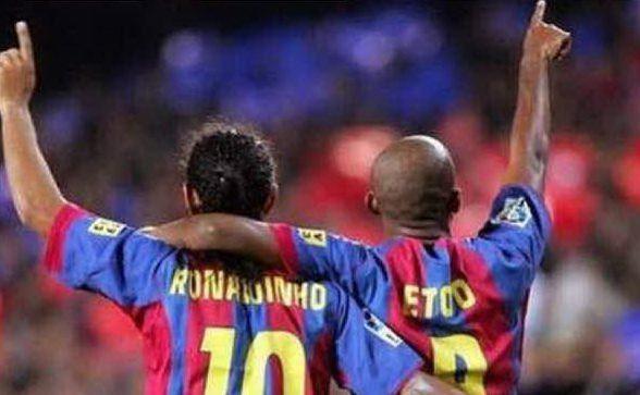 Ronaldinho ed Eto'o, coppia storica del club