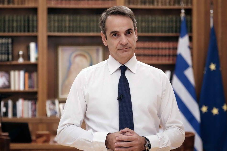 Il premier greco Kyriakos Mitsotakis (Ansa)