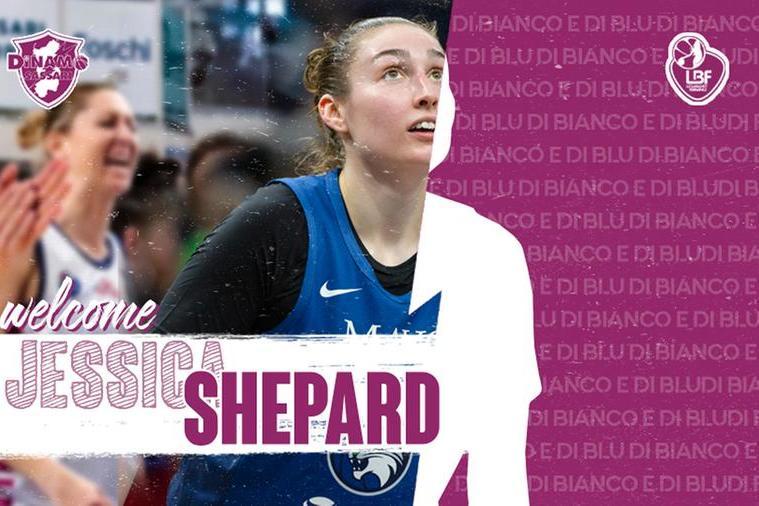 La Dinamo femminile chiude la squadra con la lunga americana Shepard