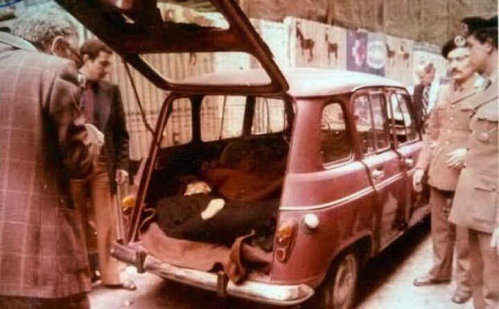 Aldo Moro verrà ucciso e il suo corpo fatto ritrovare in un'auto in via Caetani il 9 maggio