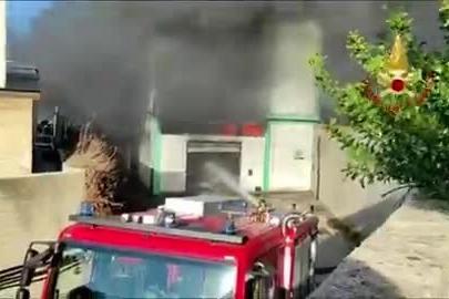 Spaventoso incendio a Predda Niedda