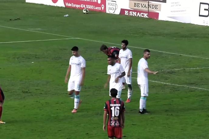 L'Olbia cade a Lucca: finisce 2-1 per i rossoneri