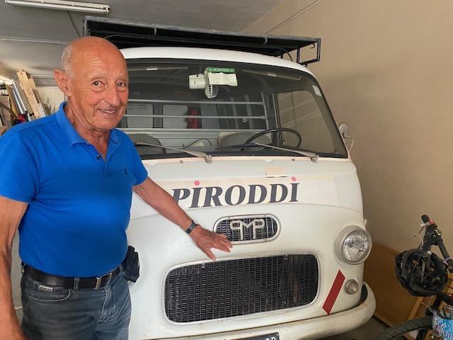 Marco Piroddi e il furgoncino Permaflex