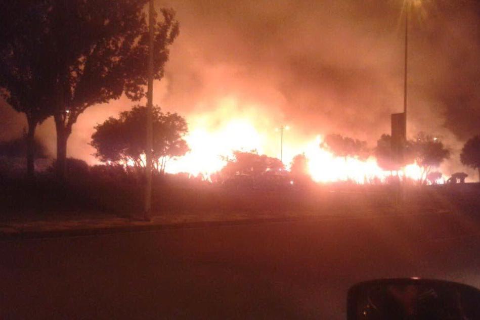 L'incendio che ha devastato il Parco di Molentargius