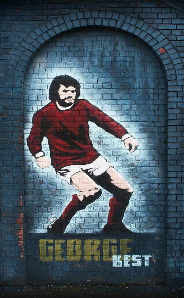 Un murales che lo raffigura