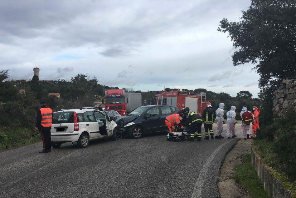 Le auto coinvolte nell'incidente (foto Busia)