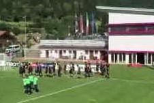 Il primo allenamento del Cagliari a Pejo