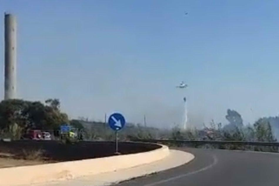 La zona dell'incendio (foto di Ignazio Serra)