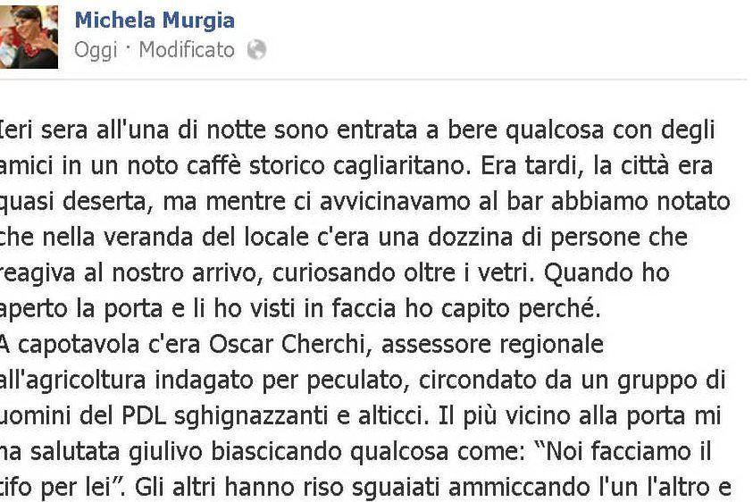 L'inizio del post di Michela Murgia