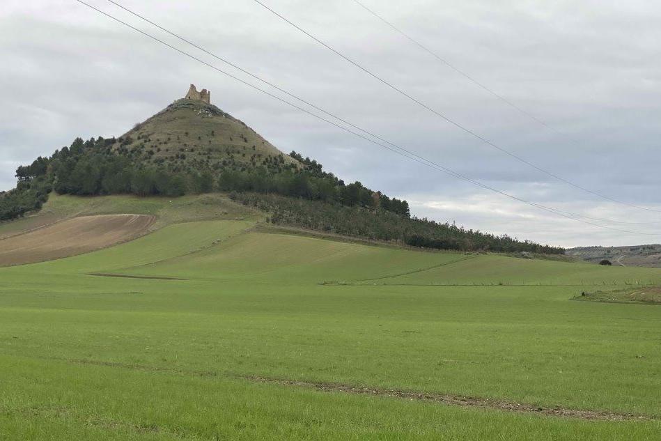Una veduta delle aree individuate dalla Sogi davanti al Castello di Marmilla a Las Plassas (L'Unione Sarda)