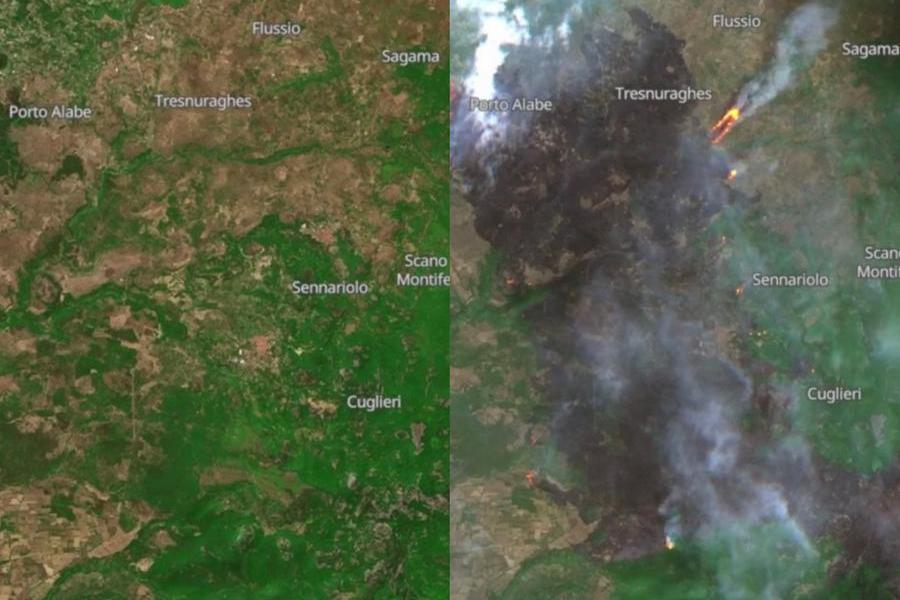 Incendi, il triste record della Sardegna