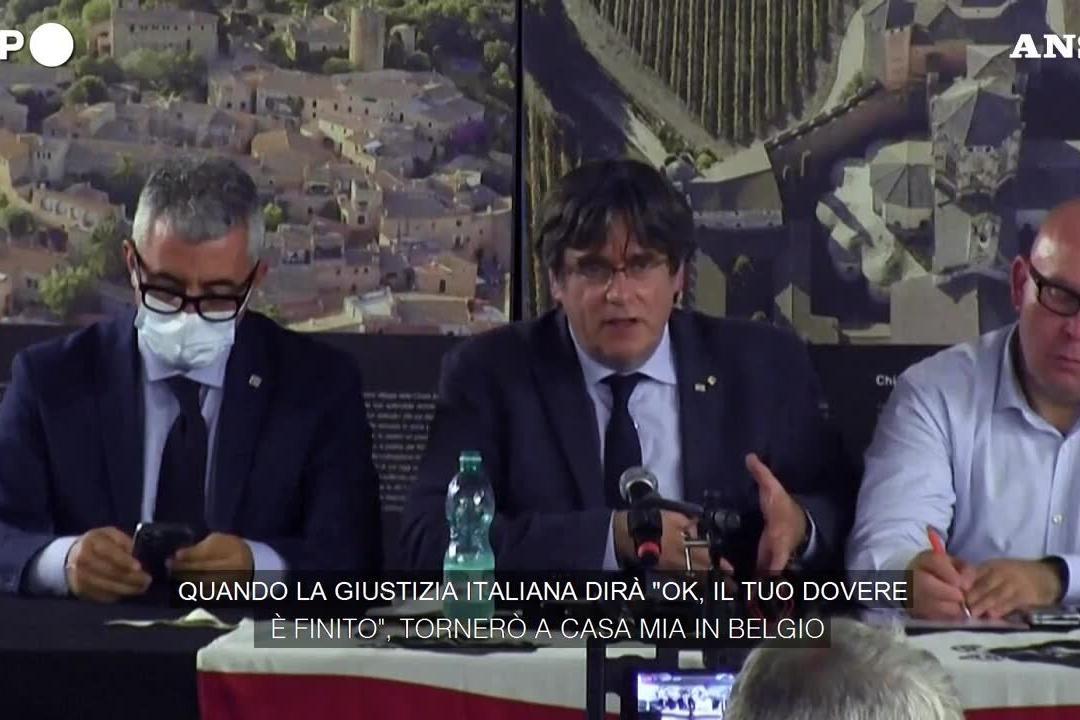 Puigdemont promette di tornare in Sardegna per l'udienza