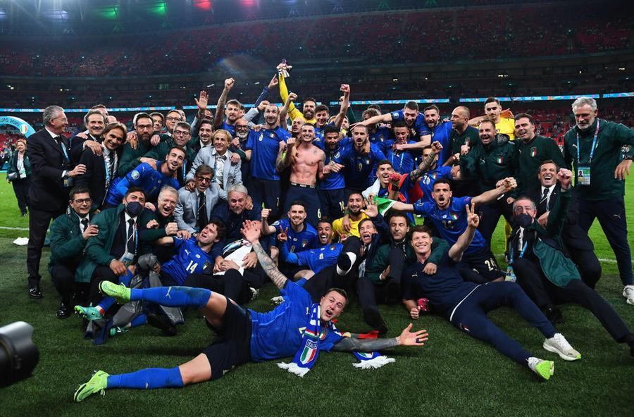 La festa degli Azzurri (Twitter Nazionale Italiana)