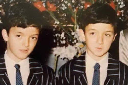 I gemelli Paolo e Claudio Calledda nel giorno della cresima