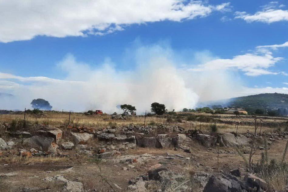 Nuovo incendio a Nurri, le fiamme minacciano l'area boschiva