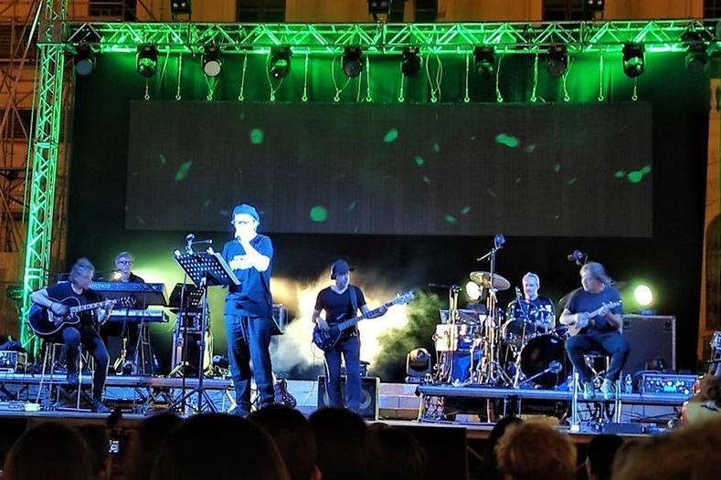 Un momento del concerto di Samuele Bersani (foto G. Marras)