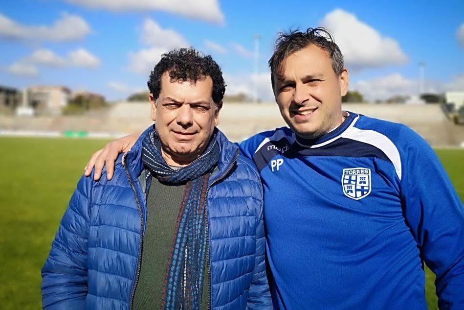 Il tecnico Mauro Giorico e il suo vice Simone Deliperi (foto ufficio stampa)