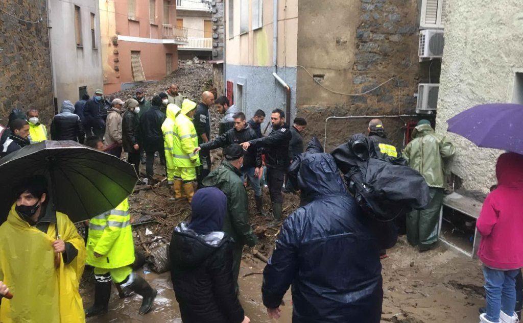 Devastazione a Bitti (foto L'Unione Sarda-Deidda)
