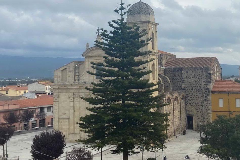 Terralba, il Covid non spegne l'albero di Natale del paese