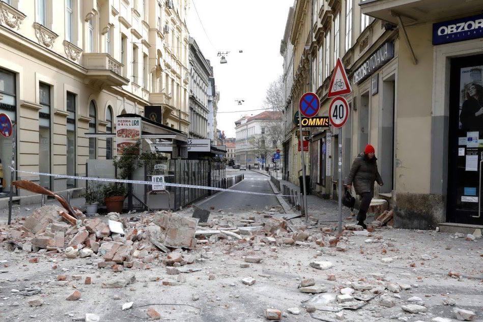Zagabria, le immagini del terremoto