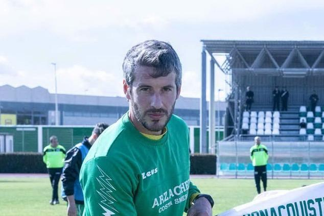 Danilo Bonaquisti dell'Arzachena (foto L'Unione Sarda)