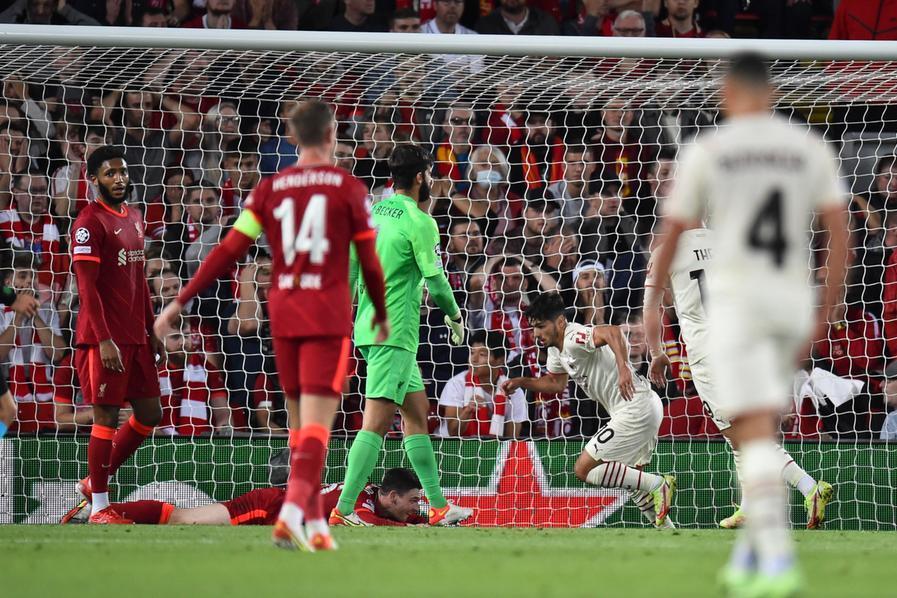 Champions, Milan battuto dal Liverpool. L'Inter dal Real Madrid