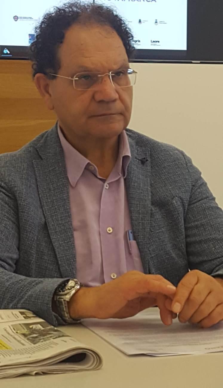 Il sindaco di San Gavino Monreale Carlo Tomasi (foto Pittau)
