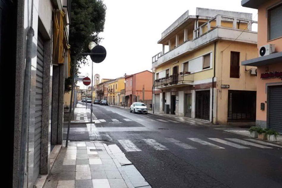 Via Roma a San Gavino (L'Unione Sarda - Pittau)