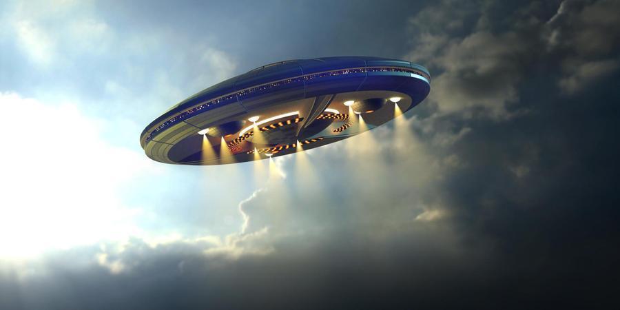 La ricostruzione grafica di un disco volante