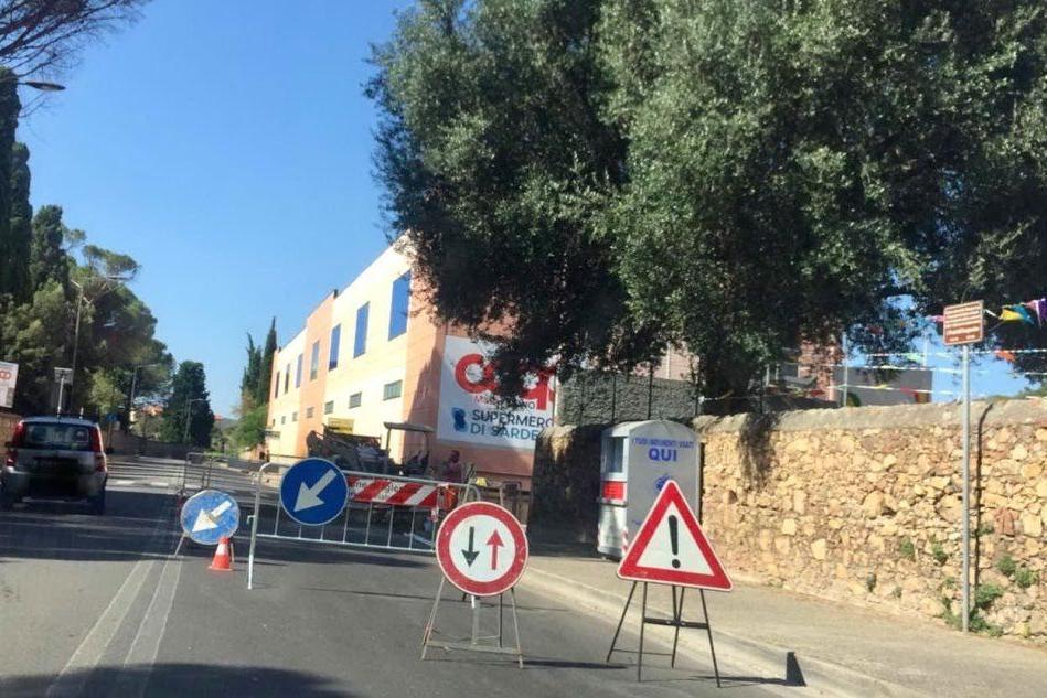 Cede l'asfalto: lavori in corso a Iglesias