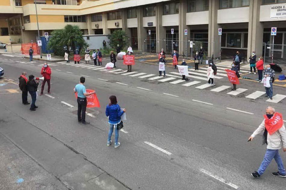 Sit-in di protesta per la sanità oristanese