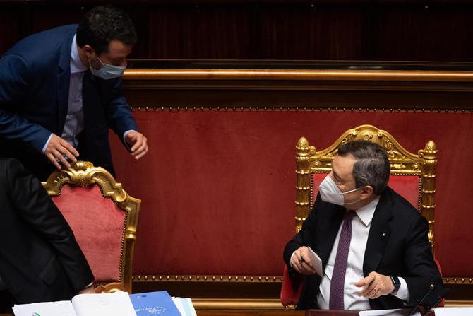 Salvini vede Draghi, primo faccia a faccia dopo lo strappo sul Fisco