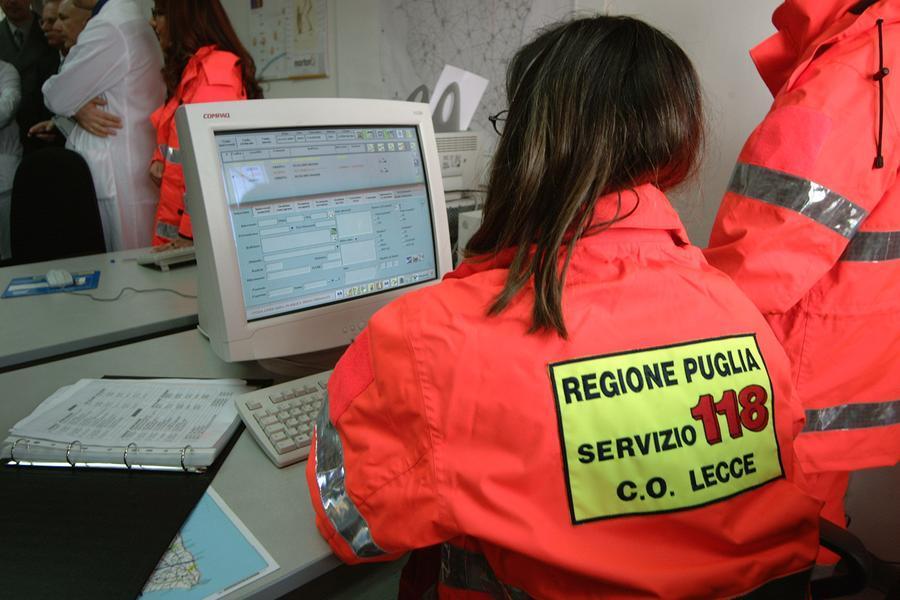Il pronto soccorso dell'ospedale di Lecce (Ansa)