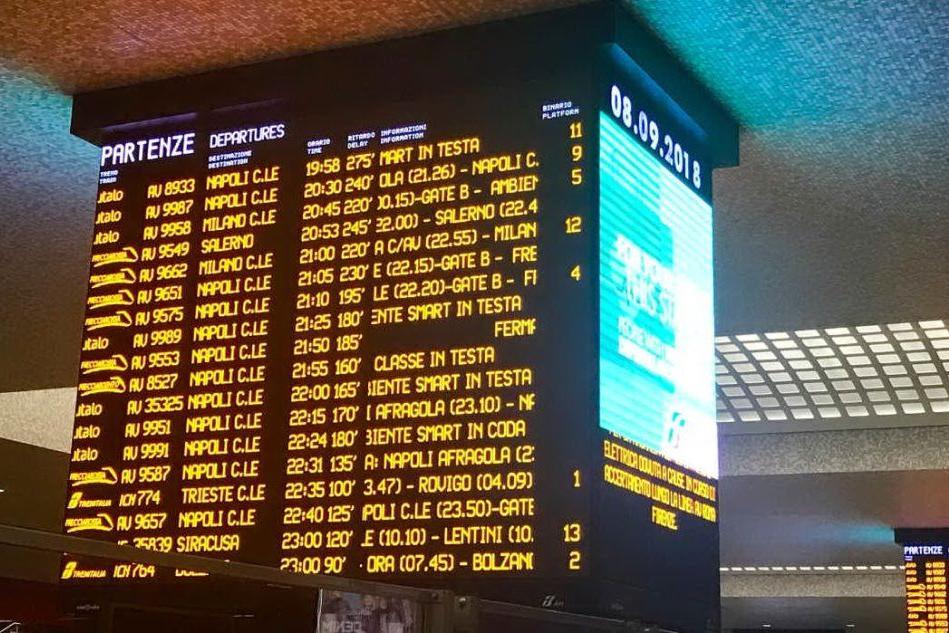 Bloccati per ore nei treni: caos tra Roma, Firenze e Napoli per un guasto