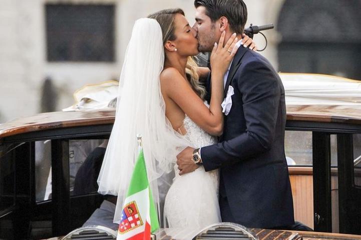 Alice Campello e Alvaro Morata (foto Instagram)
