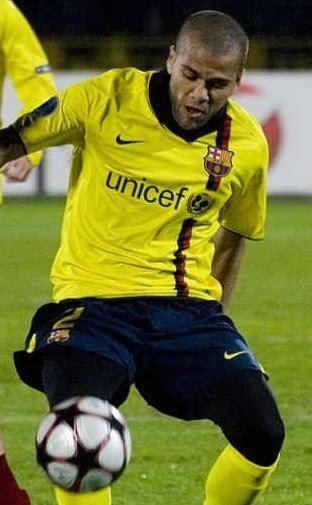 L'esterno brasiliano Daniel Alves