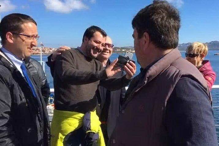 Salvini nell'Isola, tappa a La Maddalena