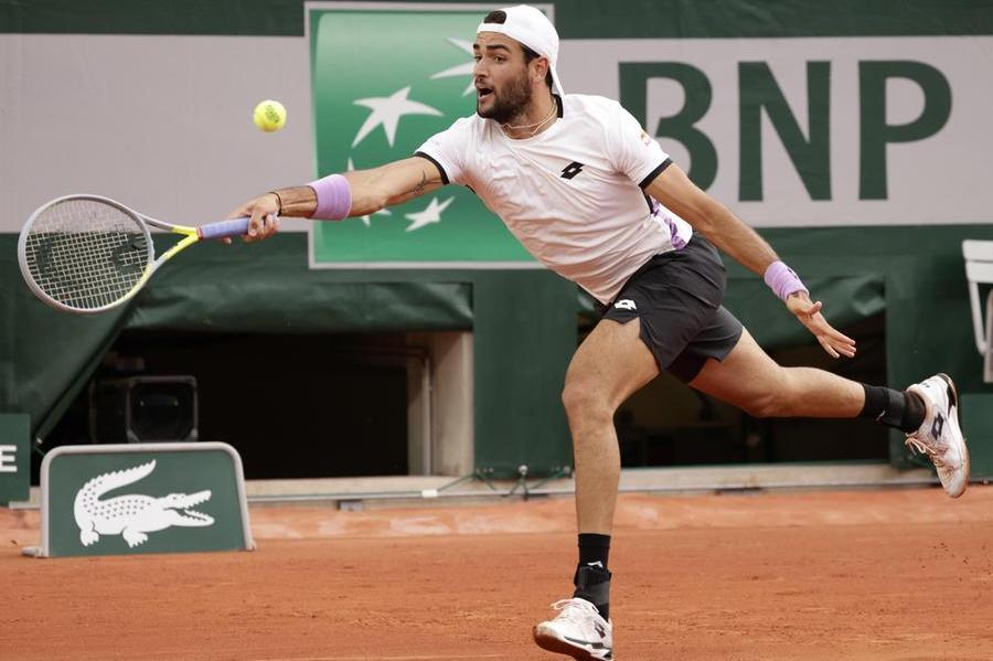 Roland Garros:Berrettini, Musetti e Sinner agli ottavi di finale