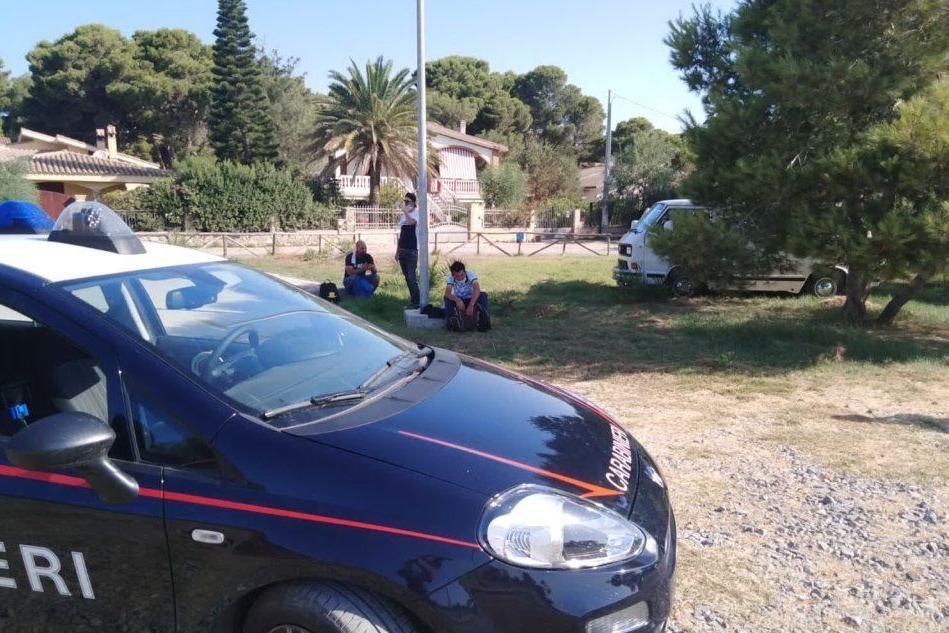 L'intervento dei carabinieri (Foto A.Scano)