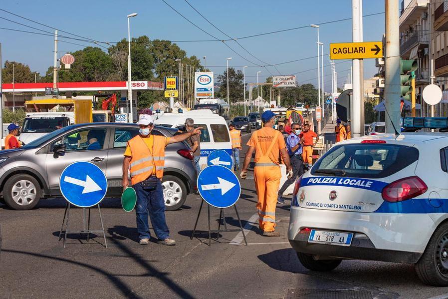 Quartu, via ai lavori in viale Marconi: traffico in tilt