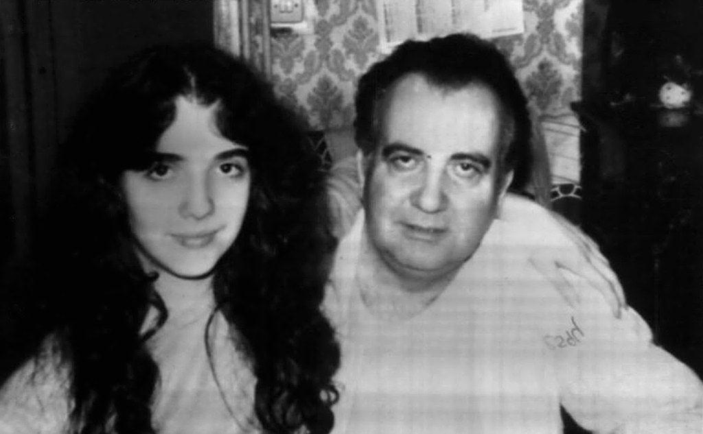Mirella Gregori insieme al padre: anche lei è scomparsa nel 1983