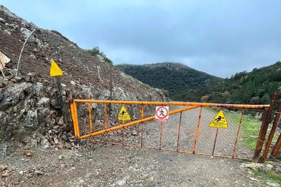 L'ingresso della miniera di Giacurru (L'Unione Sarda)