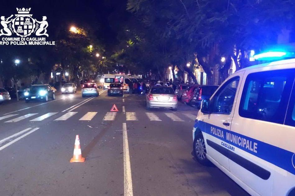 Tamponamento a Cagliari, un ferito in codice giallo