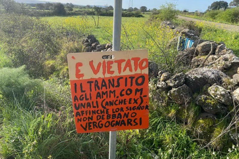 Ghilarza: singolare protesta sulla strada che porta al novenario di San Michele