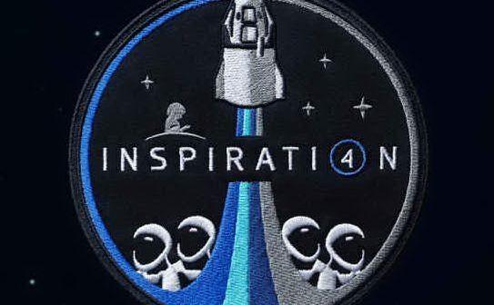 """Il logo della missione \""""Inspiration 4\"""" (foto Floris)"""